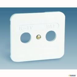 S75- Tapa toma de señal R-TV+SAT blanca