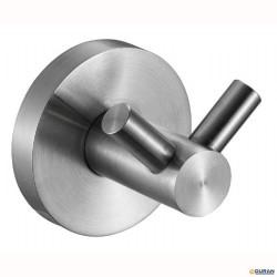 NIZA- Percha doble de acero Inox
