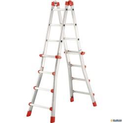 ProfiStep Escalera telescópica de aluminio