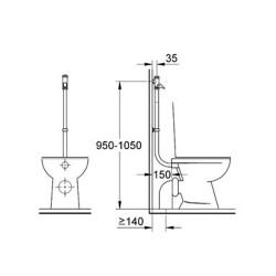 "Fluxor DAL WC visto de Grohe totalmente Automático 3/4"" cromo"