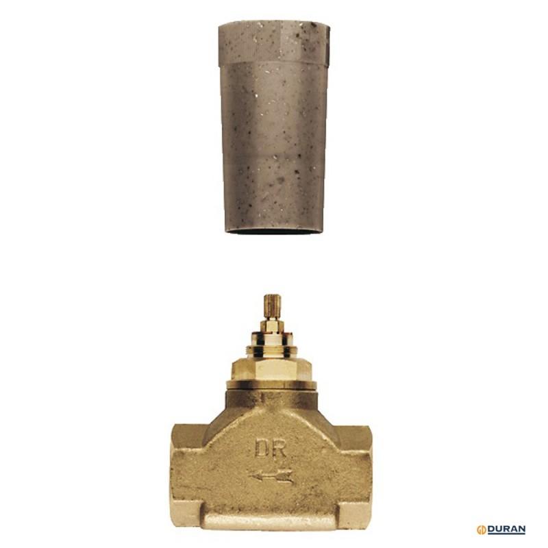 Cuerpo empotrable y montura de llave de paso g 1 de grohe for Montura llave de paso