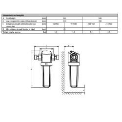 """Filtro instalación de agua Grünbeck GENO FS-B 1"""""""