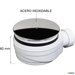 Válvula extraplana de plato ducha de Duchaflex 90mm inox
