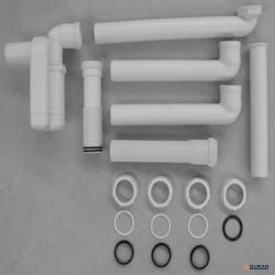 """Sifón ahorrador de espacio de Duravit 1 1/4"""" en color blanco"""