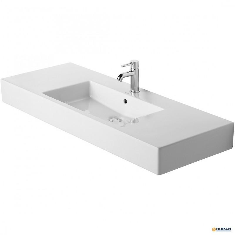 Vero - lavabo con rebosadero y bancada de Duravit