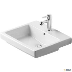 Vero - lavabo con rebosadero y bancada, de Duravit