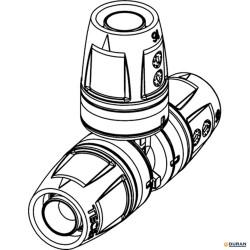 Te uniones de tubos de TECElogo
