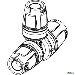 Te reducidas uniones de tubo de TECElogo