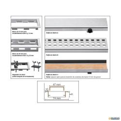 Rejilla de diseño Kerdi-Line-A de Schlüter de 110cm 19mm inox