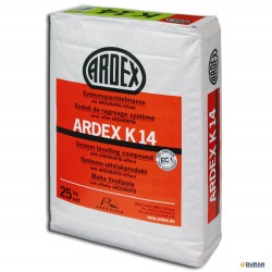 Mortero autonivelante Ardex K-14 25 kilos color gris