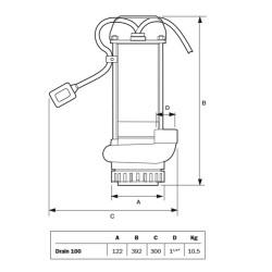 Espa Drain 100MA - Bomba para drenaje