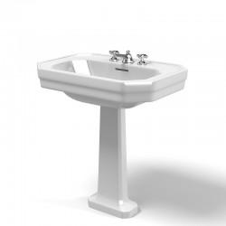 1930 - pedestal de cerámica para lavabo. De Duravit
