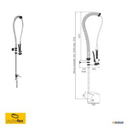 DUCHAFLEX 6431 - Equipo de ducha monomando completo.