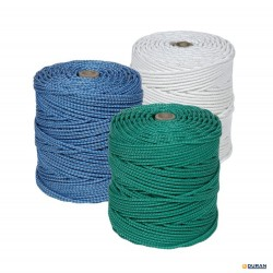 Cuerda cableada de polietileno PE de 6mm y 20 mts blanca
