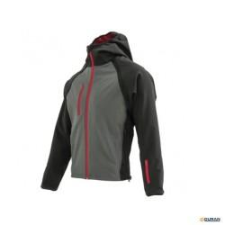 SLY- Chaqueta Softshell color gris y negra con capucha