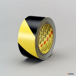 Cinta vinilo de seguridad amarilla/negro de 55mm
