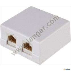Base modular doble para cable pareado (RJ45)